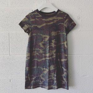 Forever 21 Girls Camo t-shirt dress sz: 9/10